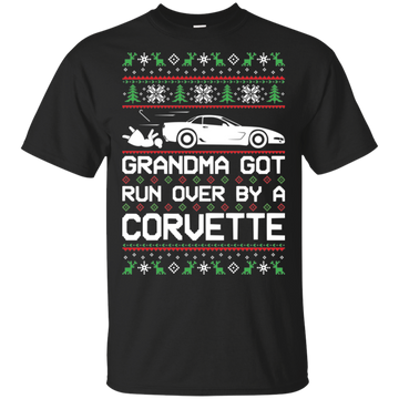 Chevy Corvette C5 Ugly Christmas Grandma Got Run Over T-Shirt