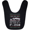 Wheel Spin Addict F250 F-250 Truck Christmas Baby Bib