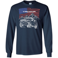 Toyota Tacoma Off-Road Overland American Flag Long Sleeve T-Shirt