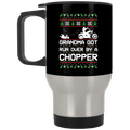 Wheel Spin Addict Chopper Moto Christmas Stainless Travel Mug