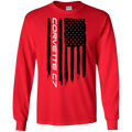 Corvette C7 American Flag Long Sleeve T-Shirt