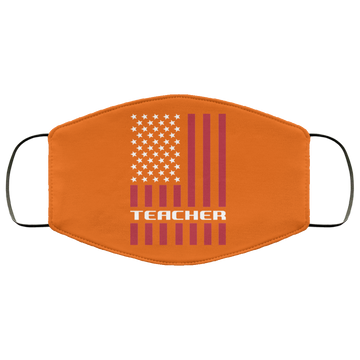 Teacher American Flag Face Mask