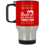 Wheel Spin Addict Tractor Christmas Stainless Travel Mug