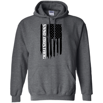 S550 Ford Mustang Cotoye 5.0 Ecoboost 2015 2016 2017 2018 2019 American Flag Pullover Hoodie