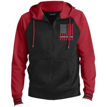 Corvette American Flag C1 C2 C3 C4 C5 C6 C7 C8 Full-Zip Hooded Jacket