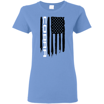 Cobra Ford Mustang S550 S197 New Edge Terminator SN95 Foxbody Shelby American Flag Ladies' T-Shirt