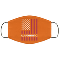 Wyoming American Flag Face Mask