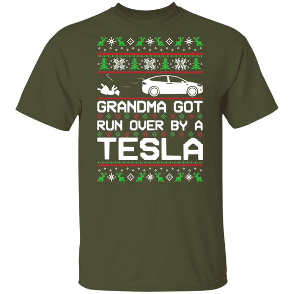 Tesla Model X Grandma Got Run Over Ugly Christmas T-Shirt