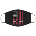 Military Veteran American Flag Face Mask