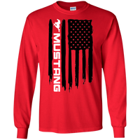 Ford Mustang American Flag Long Sleeve T-Shirt Foxbody New Edge GT 5.0 Coyote S197 S550 SN95 New