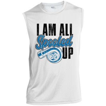 I Am All Spooled Up Turbo Boosted Racing Sleeveless Performance T-Shirt