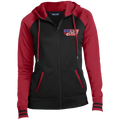 WheelSpinAddict Logo Ladies' Moisture Wick Full-Zip Hooded Jacket