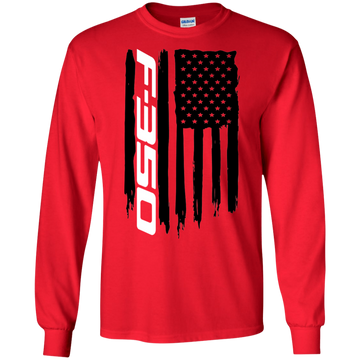 F-350 Ford Truck Power Stroke XLT XL Lariat King Ranch Platinum American Flag T-Shirt Long Sleeve