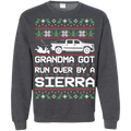 GMC Sierra Ugly Christmas Grandma Got Run Over Crewneck Sweatshirt