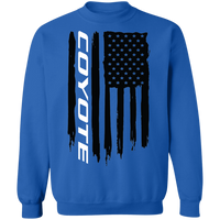 WSA Coyote 5.0 American Flag Ford Mustang American Flag Crewneck Sweatshirt