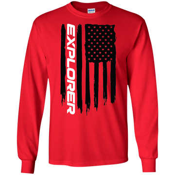 Ford Explorer Ecoboost  American Flag T-Shirt Long Sleeve