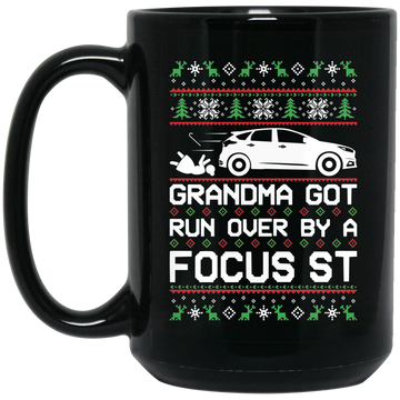 Wheel Spin Addict Focus ST Christmas 15 oz. Black Mug