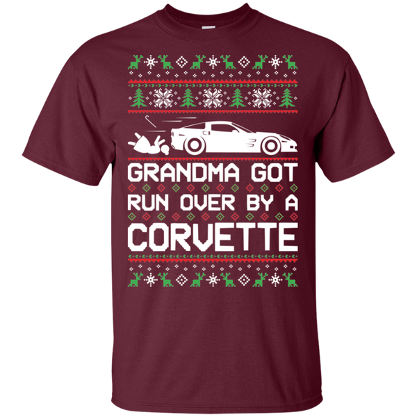 Chevy Corvette C6 Ugly Christmas Grandma Got Run Over T-Shirt