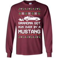 Ford Mustang SN95 Ugly Christmas Grandma Got Run Over by a Mustang T-Shirt T-Shirt Long Sleeve 1994 1995 1996 1997 1998