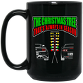 Wheel Spin Addict Race Tree Christmas 15 oz. Black Mug