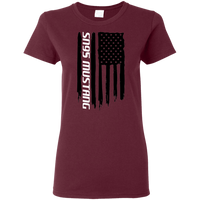 SN95 Ford Mustang 1994 1995 1996 1997 1998 American Flag Ladies'  T-Shirt