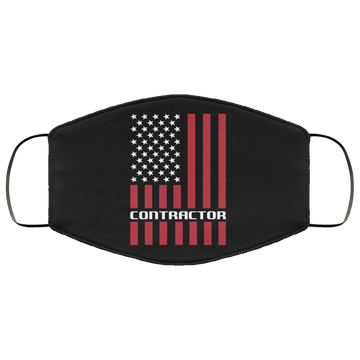 Contractor Contractor American Flag Face Mask