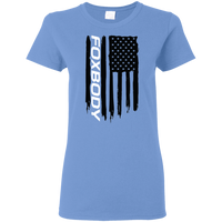 Foxbody Ford Mustang 5.0 GT Notch SVO American Flag Ladies' T-Shirt