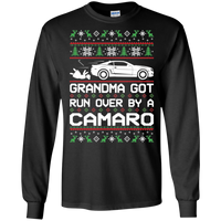 Chevy Camaro 5th Gen Grandma Got Run Over Ugly Christmas Long Sleeve T-Shirt