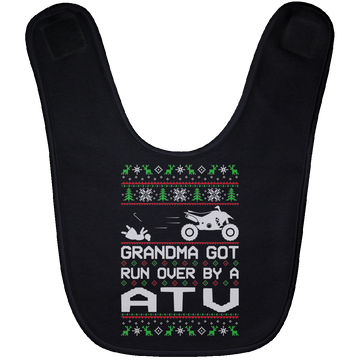 Wheel Spin Addict ATV Quad Desert Christmas Baby Bib