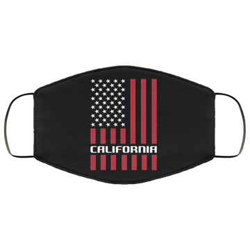 California California Cali American Flag Face Mask
