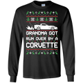 Chevy Corvette C6 Ugly Christmas Grandma Got Run Over by a Corvette T-Shirt Long Sleeve