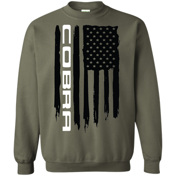 Cobra Ford Mustang Flag Crewneck Pullover Sweatshirt S550 S197 New Edge Foxbody SN95 Shelby