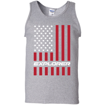 Explorer SUV Ecoboost American Flag USA Tank Top
