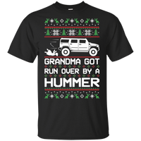 Hummer H2 Grandma Got Run Over Ugly Christmas T-Shirt