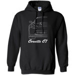Chevy Corvette C7 Outline Pullover Hoodie