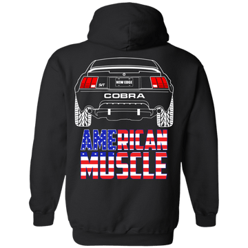 New Edge Ford Mustang American Muscle Cobra Pullover Hoodie 1999 2000 2001 2002