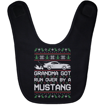 Wheel Spin Addict New Edge Mustang Christmas Baby Bib