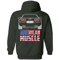 C4 Corvette Outline Double Sided American Muscle Hoodie
