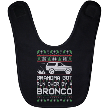 Wheel Spin Addict Bronco Christmas Baby Bib