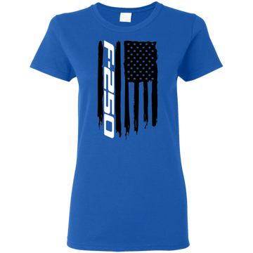 Ford F-250 Truck Super Duty PowerStroke XLT Platinum King Ranch Lariat American Flag Ladies' T-Shirt