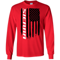 GMC Sierra 1500 2500 3500 American Flag T-Shirt Long Sleeve