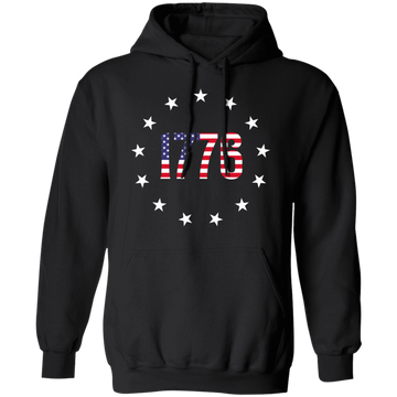 1776 Betsy Ross American Flag Pullover Hoodie