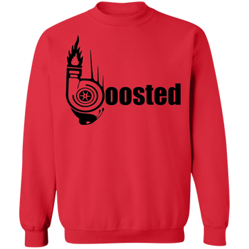 Boosted Turbo Word Boosted Turbo Racing Gapped Crewneck Sweatshirt
