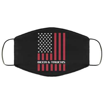 Beer & Trucks American Flag Face Mask