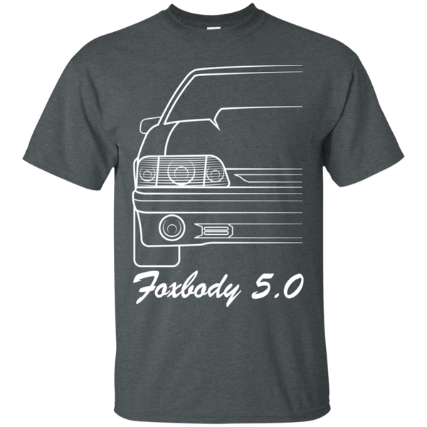 Foxbody Ford Mustang Outline Notch SVO Hatch GT 5.0 T-Shirt