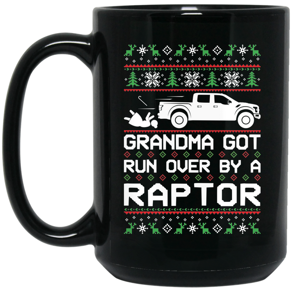 Wheel Spin Addict Raptor Truck F150 Christmas 15 oz. Black Mug