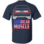Foxbody Ford Mustang LX GT American Muscle Flag T-Shirt