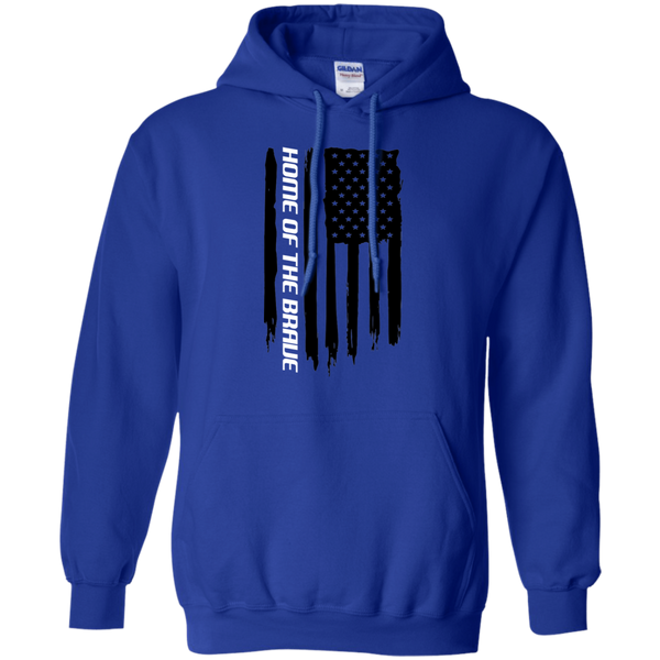 Home of the Brave American Flag Pullover Hoodie