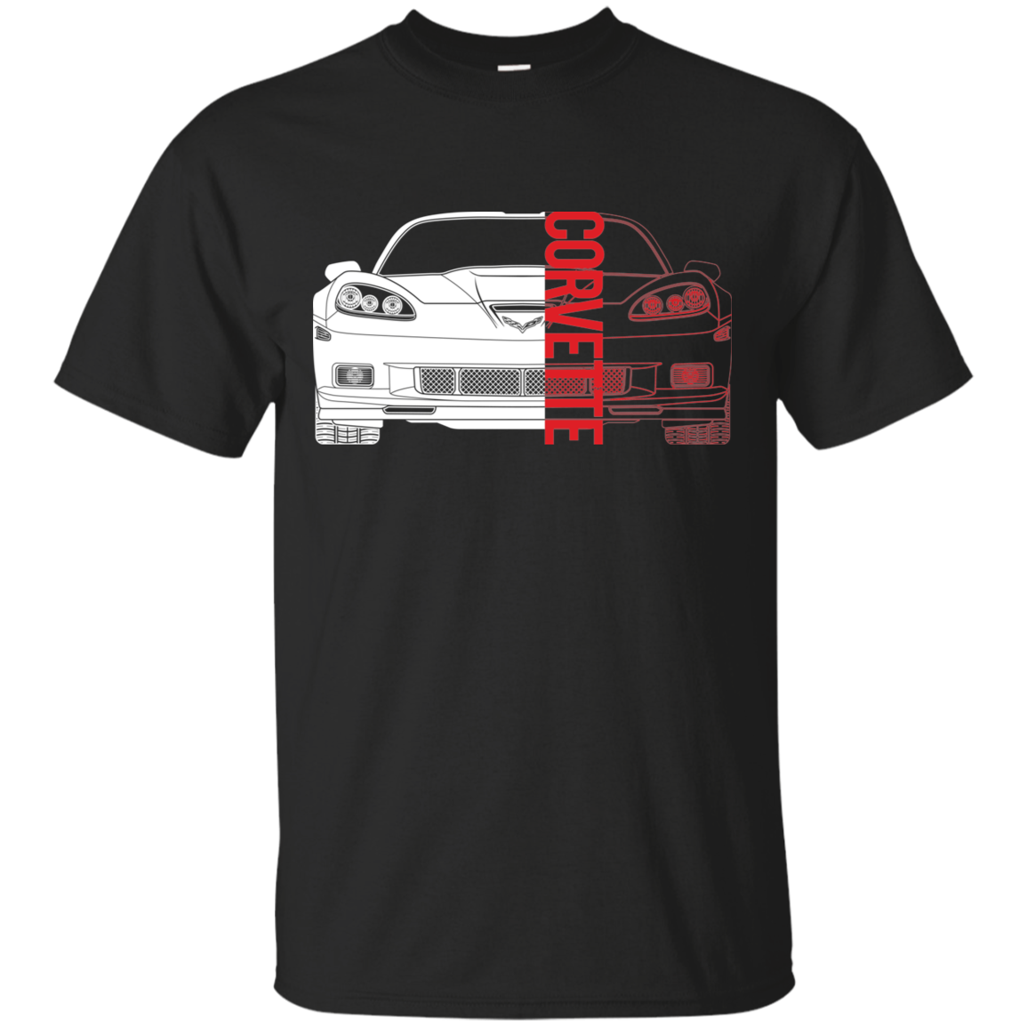 Chevy Corvette C6 Double Sided Get Used to the View T Shirt New
