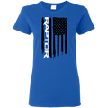 Raptor Ford F-150 Ecoboost 3.5 6.2 American Flag Ladies' T-Shirt